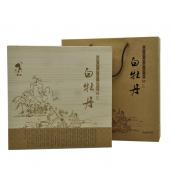蓝姑木盒白牡丹